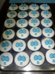 Dezenas de cupcakes...