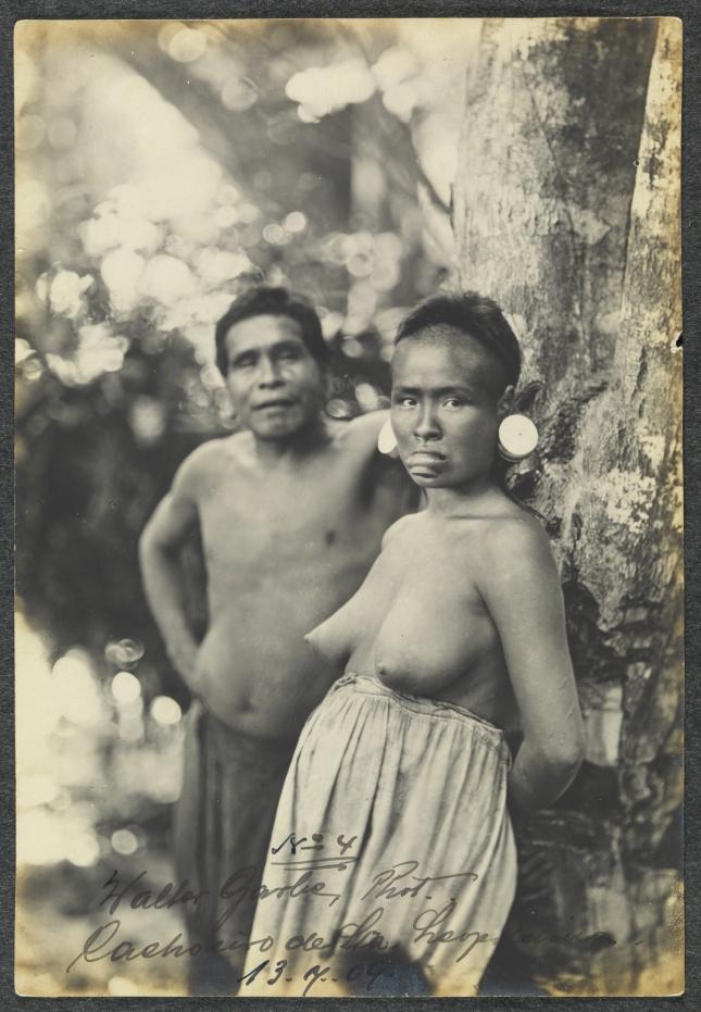 -Walter Garb / Acervo BN [Índios Botocudos, 1909]. [Santa Leopoldina, ES] Fotografia: gelatina Icon669122