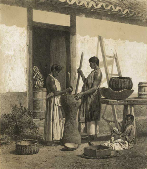 Victor Frond; Jules-Joseph-Augustin Laurens. Pilage du café, 1861 / Acervo FBN