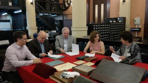 2 de maio de 2016 - da esquerda para a direita, Eduardo Saron (Itaú Cultural), Flávio Pinheiro (IMS), Renato Lessa (BN), Valéria Piccoli (Pinacoteca) e Vera de Alencar (Castro Maya)