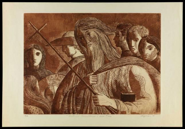 """Antonio Conselheiro e seus fiéis"" [Iconográfico] Chapman, Grover. 1978."