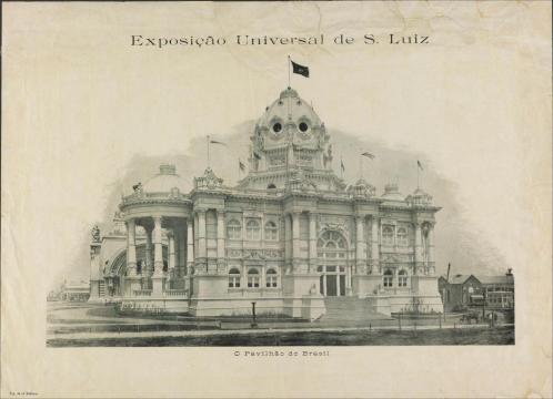 Marinho, P.; A. Editora. Exposição Universal de S. Luiz : o pavilhão do Brasil, 1904?. Missouri, Estados Unidos / Acervo FBN