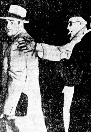 Al Capone no momento de sua prisão, em 1940.