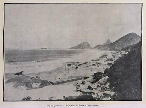 Praias de Copacabana e Leme. Revista Careta - 26/03/1910
