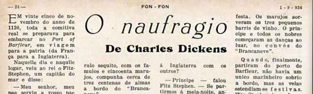 O naufrágio, conto de Dickens. Disponível em: http://memoria.bn.br/docreader/259063/85878