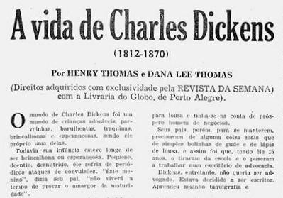 A vida de Charles Dickens Disponível em: http://memoria.bn.br/DocReader/025909_04/24860